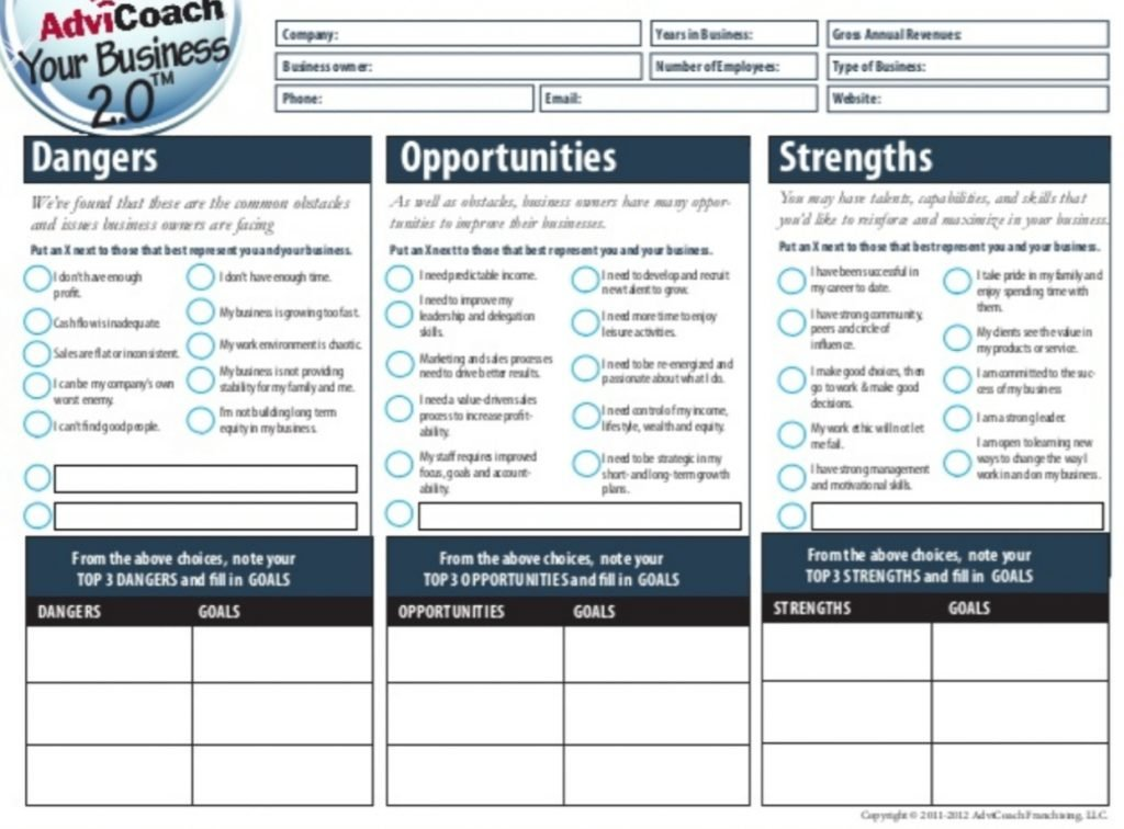 business worksheet